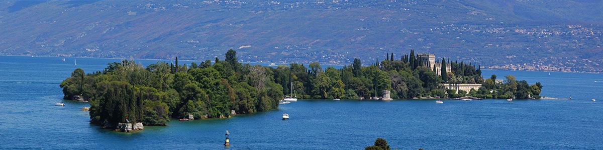 Isola del Garda is located on Lake Garda